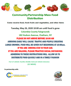 Community Partnership Mass Food Distribution @ Columbia County Fairgrounds
